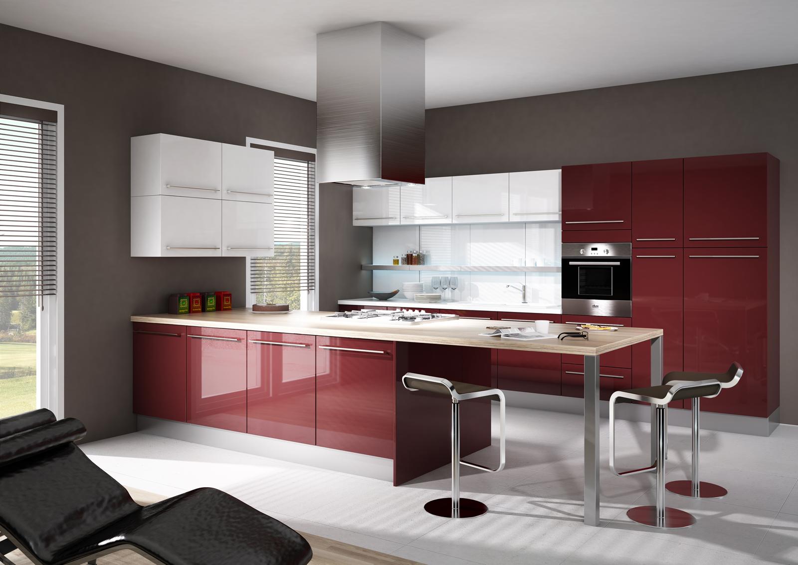 Cuisine bordeaux et beige: cuisine grise et rouge. cuisine ...
