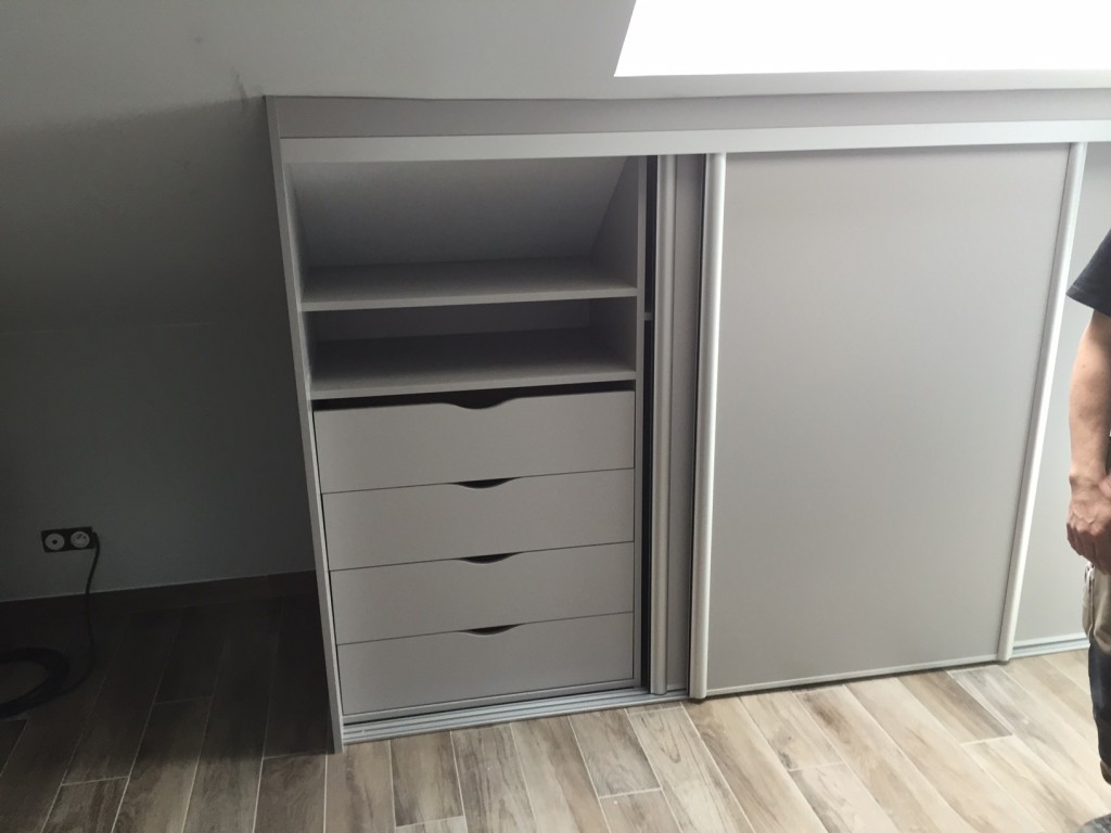 Armoire Sous Pente Blanc Morgan Table De Lit